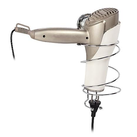Tatkraft Vacuum Screw Hard Henry Soporte Secador de Pelo con Ventosas Acero Cromado 11X13.3X24