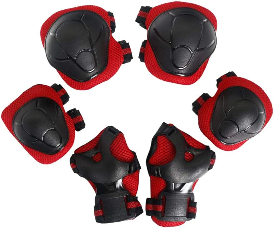 LOPMMO Kids Protective Gear Knee Pads Wrist Guard Elbow Pads for Skateboard,Knee Elbow Pads with Wrist Guard for Skatings Scooter Riding Sports