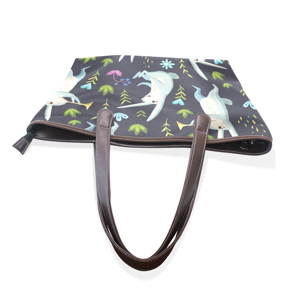 Cute Cartoon Rabbit Pattern Print Womens Fashion Large Shoulder Bag Handbag Tote Purse for Lady