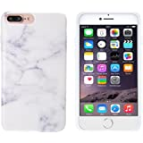 iPhone 7 Plus Case, JZCreater Slim Smooth TPU Flexible Shockproof Case Soft Rubber Silicone Skin Cover for Apple iPhone 7 Plus, White Marble