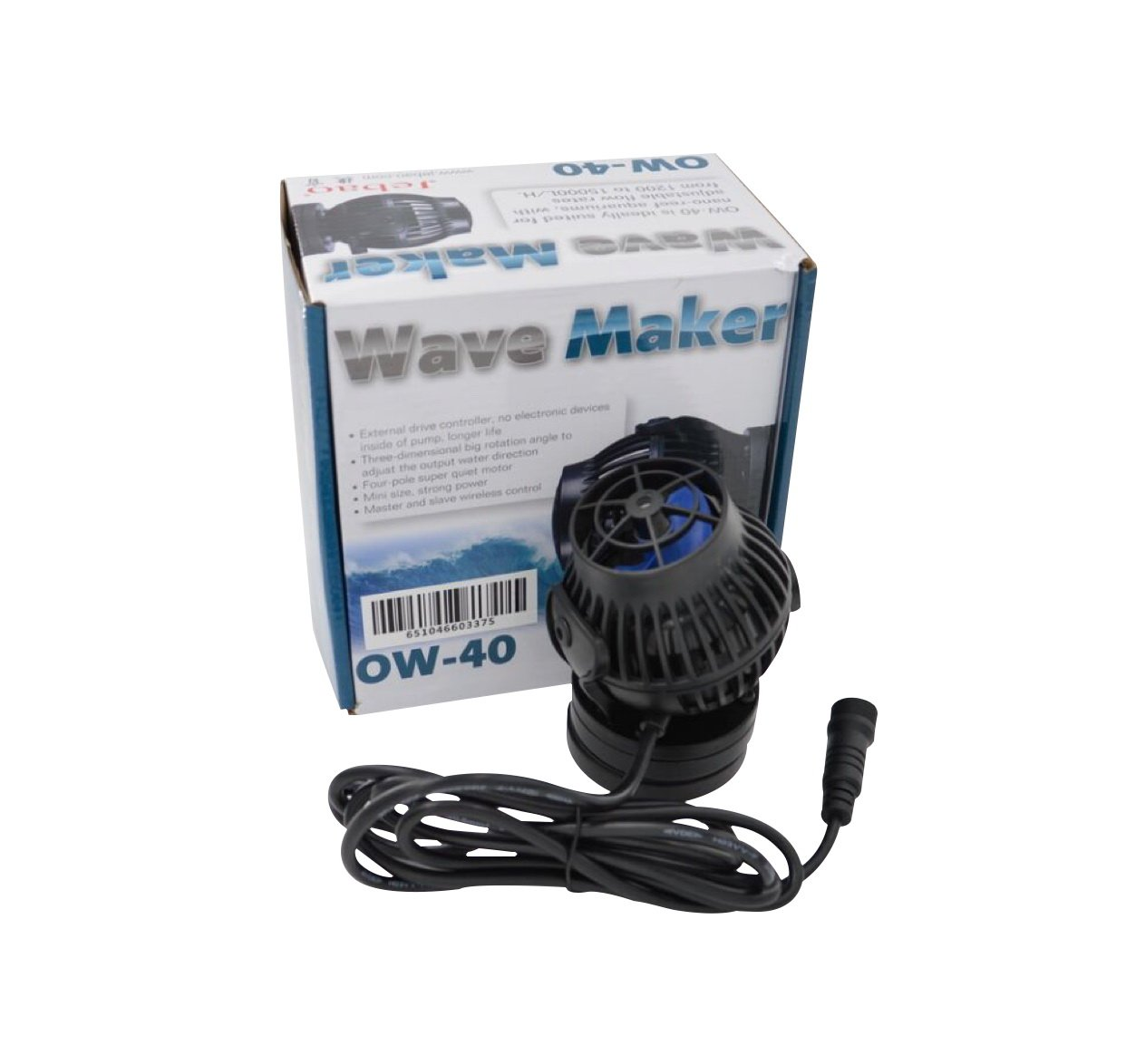 Jebao OW-40 Wavemaker 317-3963 gph with Controller and Magnet Mount