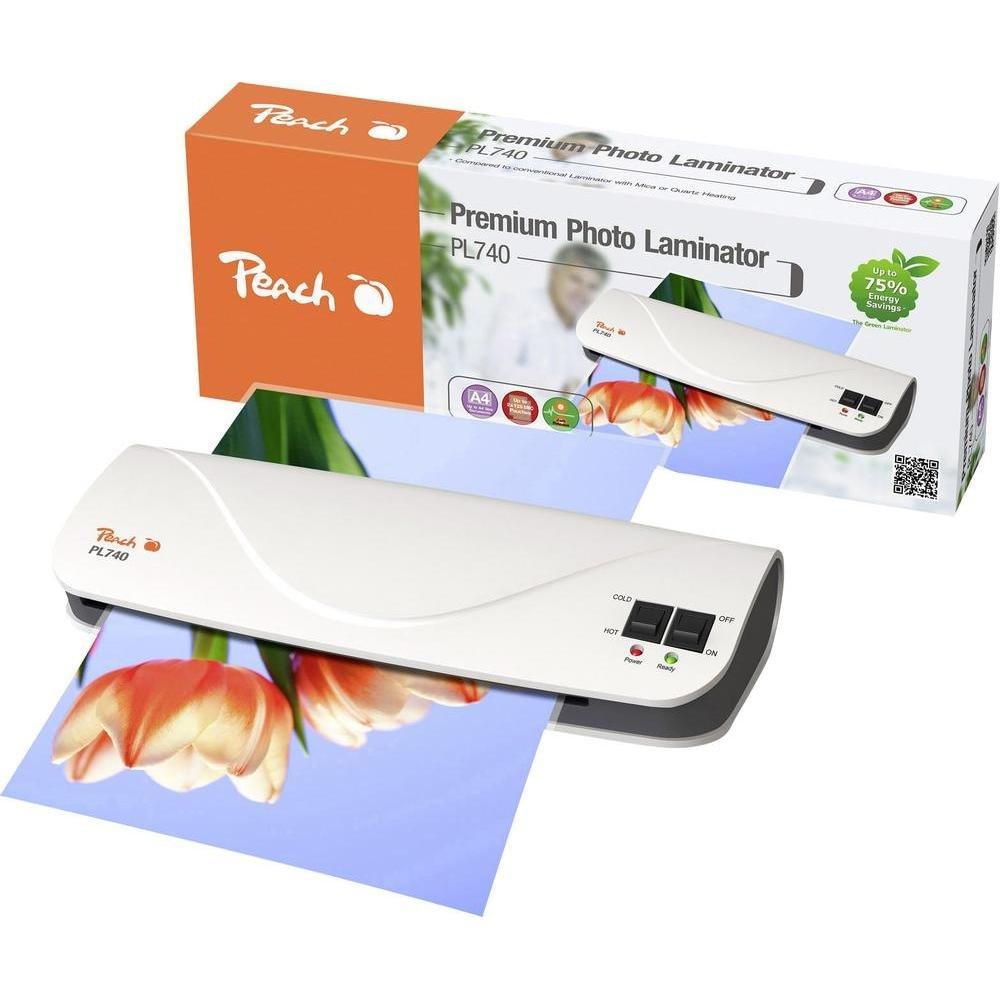 Peach PL740 Laminiergerät A4 - inkl. 10-teiligem Starterset: Amazon ...