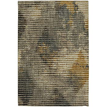 Amazon Com Mohawk Muse Wireframe Mustard Striped Woven