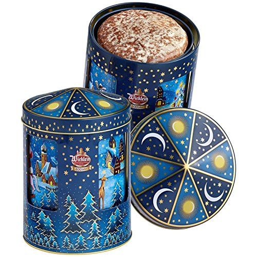 Wicklein Childrens Lebkuchen Rotating Musical Tin - Fine Gingerbread Cookies 7.05 oz