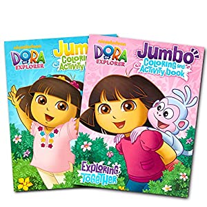 Dora The Explorer Coloring Book Set 2 Books
