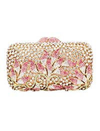 Fawziya Rhinestone Floral Clutch Bags for Womens Purses and Handbags