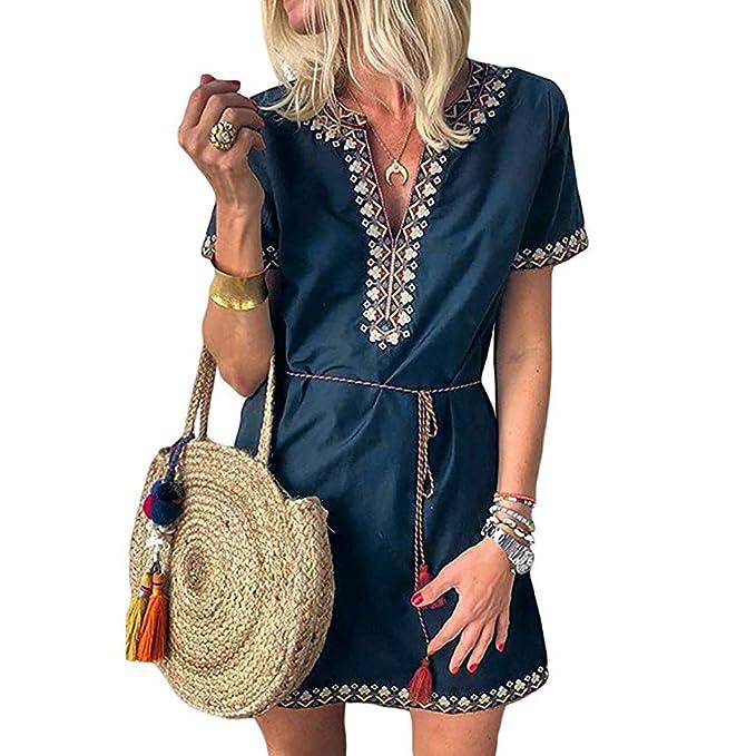 d9ee6002946bd Amazon.com: Clearance!! Womens Plus Size Dresses, Vintage Casual ...