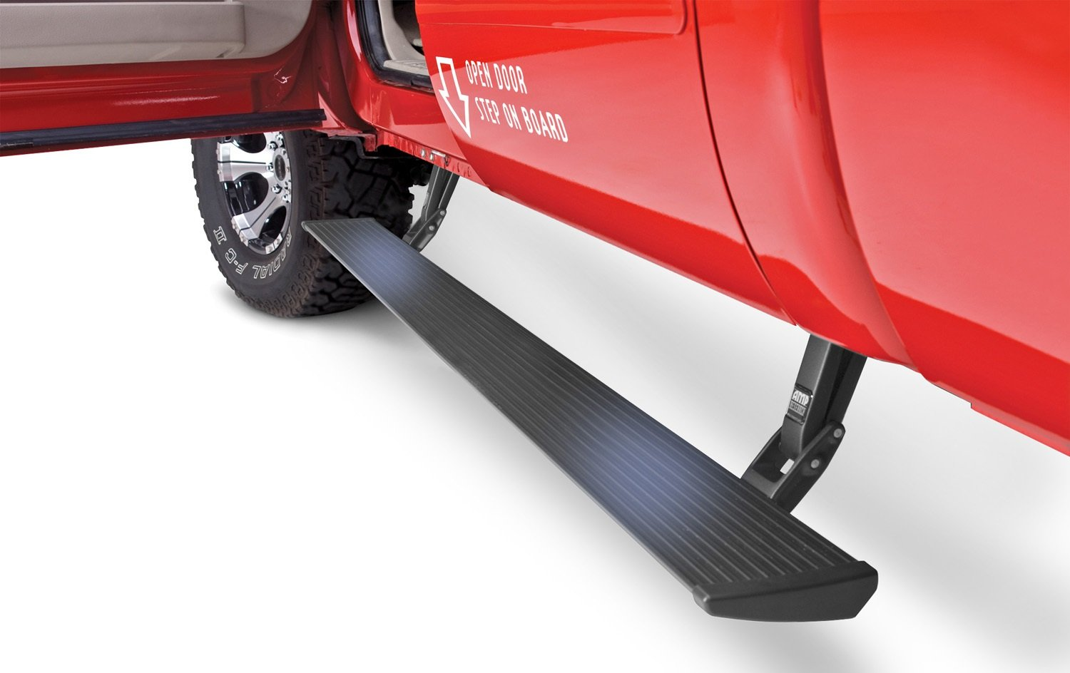 AMP Research 76134-01A PowerStep Electric Running Boards Plug N' Play System for 2008-2016 Ford F-250/F-350/F-450 (All Cabs)