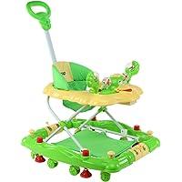 LuvLap Comfy Baby Walker with Rocker - Green