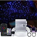 AKEPO 10W Car Home Use APP+Twinkle+Music Fiber Optic Lights kit for Star Ceiling Sky Light, RGBW Light Engine + Optical…