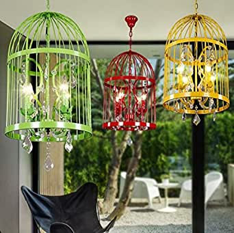 SSBY American country color Crystal birdcage chandelier chandelier creative simple cafe bar restaurant clothing store personality 350/450/600580/820/960mm , L