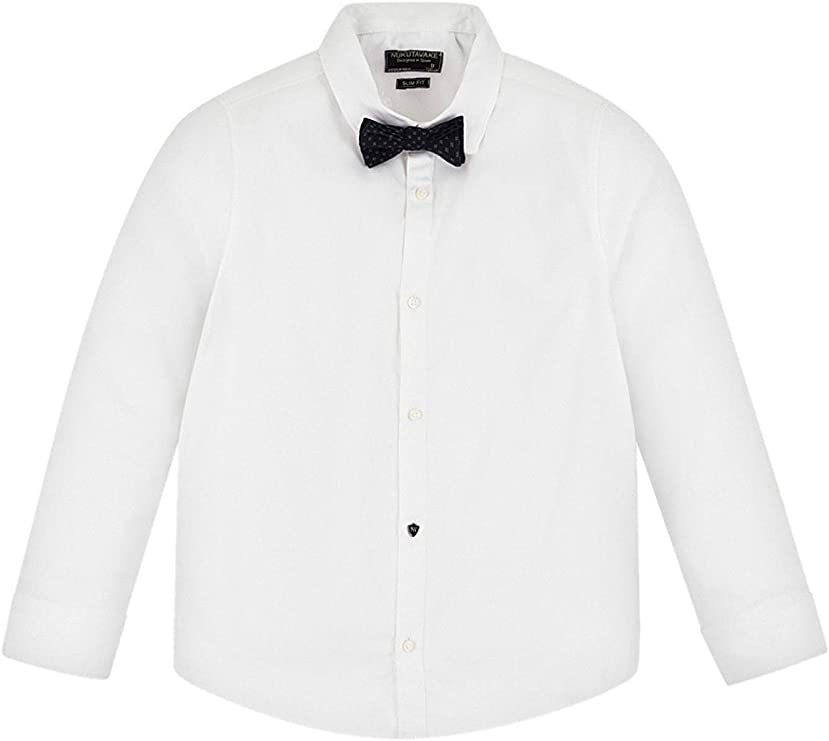 Mayoral, Camisa para niño - 6154, Blanco: Amazon.es: Ropa y accesorios