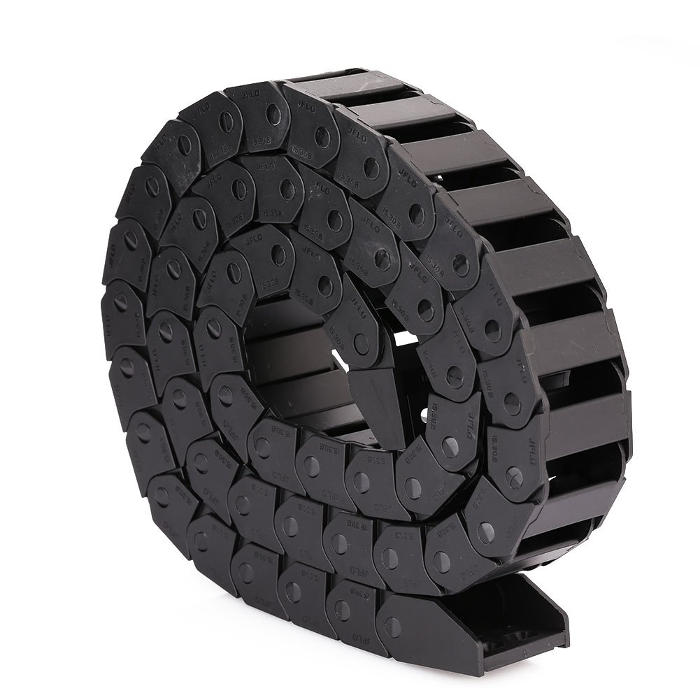 Hanbaili 15x30mm Cable Towline Machine Tool, Black Plastic Open Type Cable Drag Chain Wire Carrier for CNC Machine