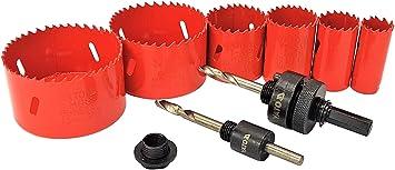 Dosenbohrer Kreisschneider 8 Tlg Satz 22-83mm Lochsäge Set Bi-Metall Bohrkrone