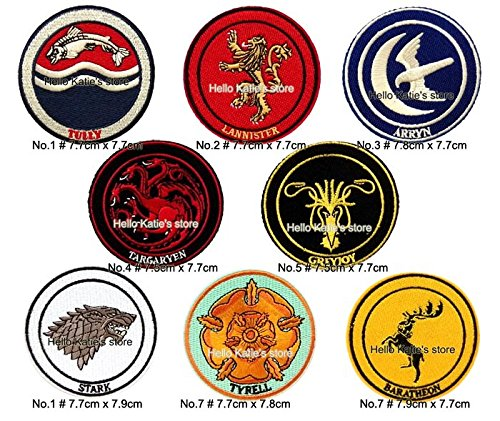 [FairyMotion Game Of Thrones Logo Embroidered Patch Of Stickers Greyioy Lannister Targaryen Tully Baratheon Stark Kids Diy Cloth Accessories Perfect] (Angel Costume Tumblr)