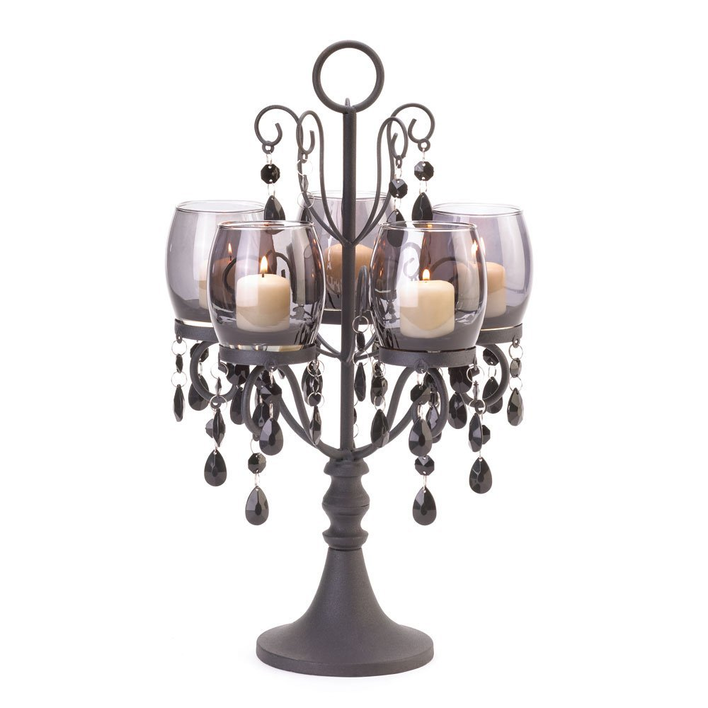 StealStreet SS-KHD-10015105 17.5 Midnight Elegance Candelabra Smart Living
