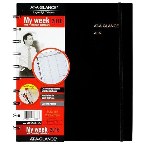 Amazon.com: At-A-Glance – Calendario semanal/monthly ...
