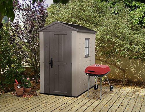 Resin Storage Sheds >> Keter Factor Large 4 x 6 ft. Resin Outdoor Backyard Garden Storage Shed - Buy Online in UAE ...