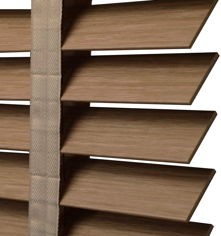 IDWOI - Estor Enrollable de Madera de Roble de bambú, Resistente al Agua, Escalera de PVC para el baño, 3 Colores, Disponible en una Variedad de tamaños: Amazon.es: Hogar