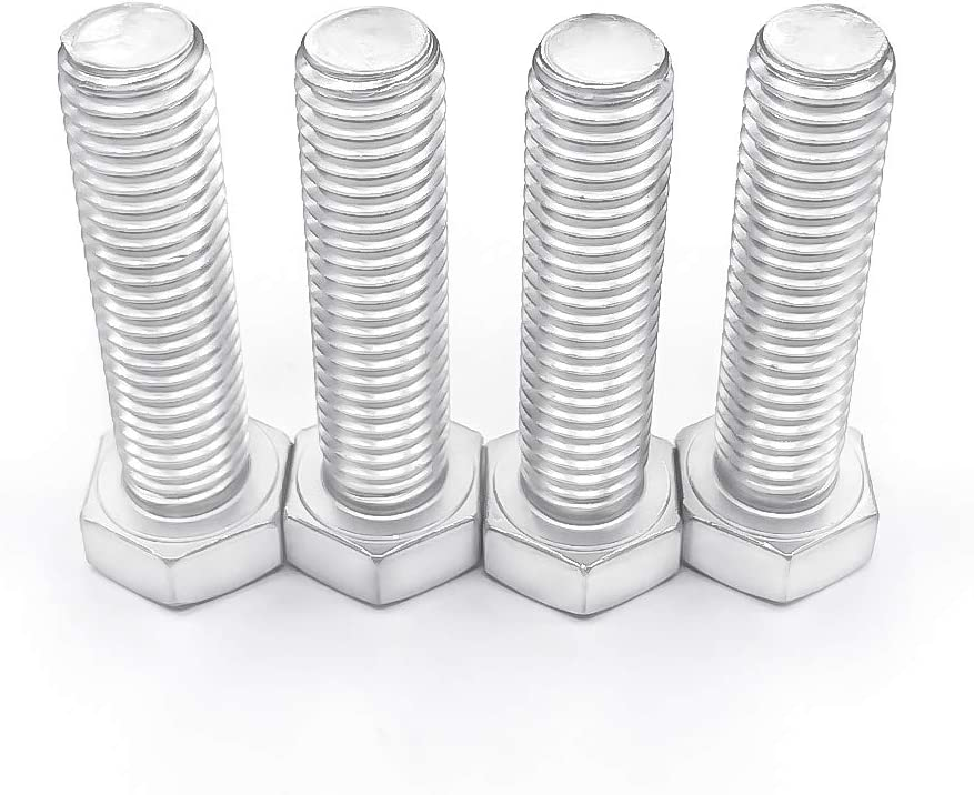 304 Stainless steel 18-8 1//4 to 3 Available 25 PCS by Eastlo Fastener Flat Point Bright Finish 1//4-20x2-1//2 Fully Machine Thread Hex Head Cap Screw Bolts