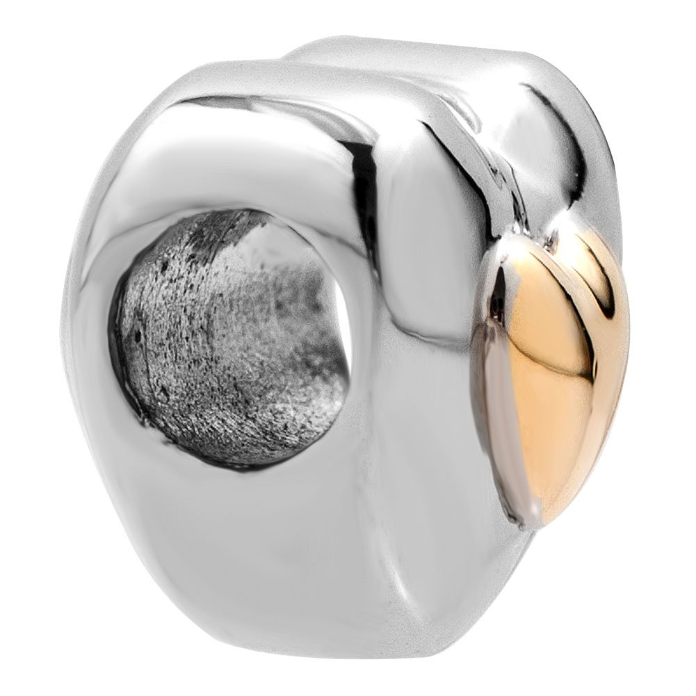 Korliya Love Heart Charm Bead for Bracelet