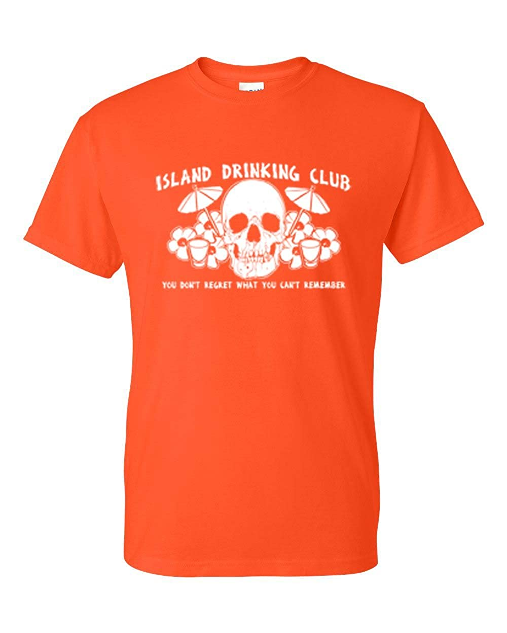 Tropical Skull Island Drinking Club Mens Womens T-Shirt Top