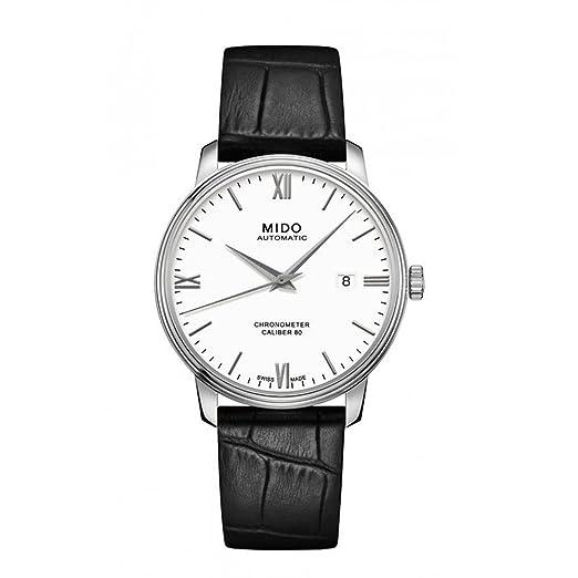 Mido Reloj Analógico para Hombre de Cuarzo con Correa en Cuero M0274081601800: Amazon.es: Relojes