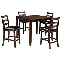 Deals on Signature Design by Ashley Coviar 5 Piece Dining Table Set