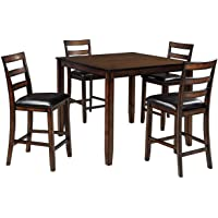 Signature Design By Ashley Coviar Dining Room Counter Table Set of 5 (D385-223) (Brown)