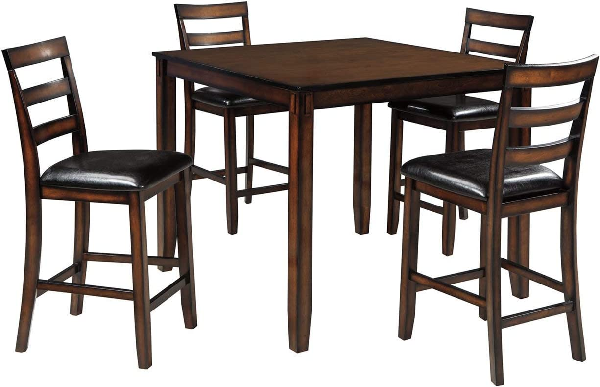 Ashley Furniture Signature Design Coviar Counter Height Dining Room Table And Bar Stools Set Of 5 Brown Amazon Ca Home Kitchen
