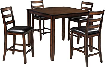 Coviar Dining Room Counter Table Set of 5 (Brown)