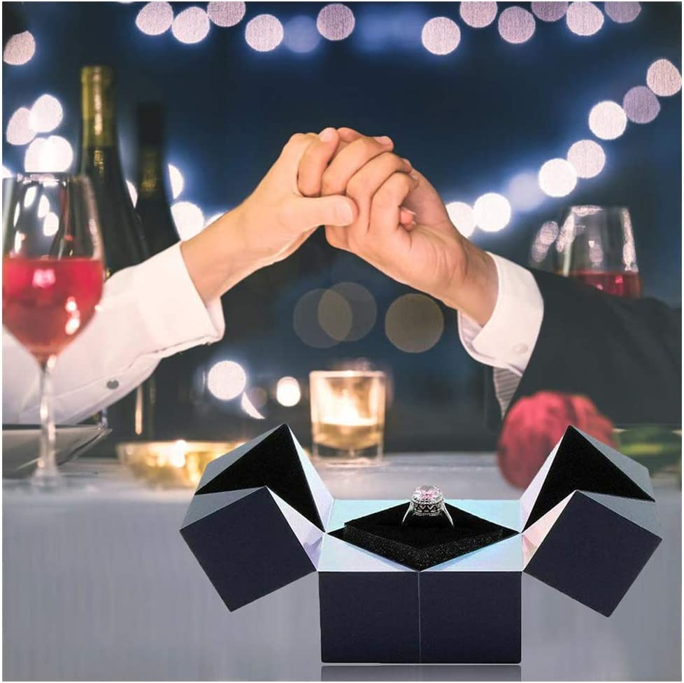 Amazon.com: Creative S925 Silver Ring, Bracelet and Puzzle Jewelry Box Magic  Cube Rotating, Magic Cube Ring Box Rotating Jewelry Gift Box,Ring Storage  Boxes for Proposal: Home & Kitchen