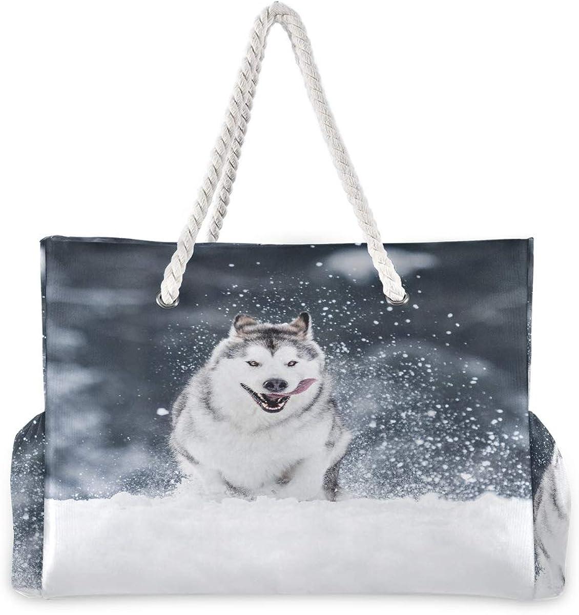My Best Friend is Alaskan Malamute Messenger Bag