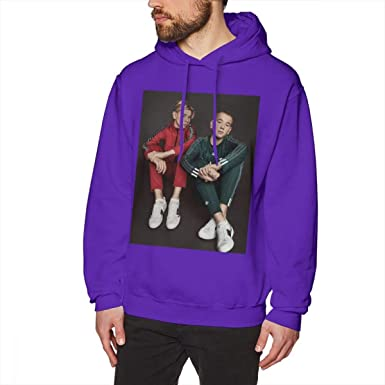 WEEKEND SHOP Marcus Martinus Hoodie Winter Loose Pullover Hoodie Male Cotton Hoodies Purple