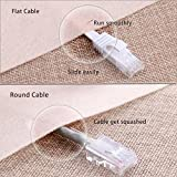 Cat 6 Ethernet Cable 50 ft White - Flat Internet