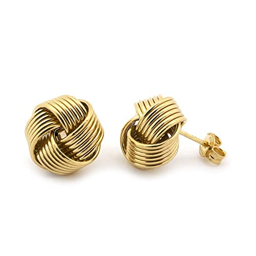 a0ed9a11d1fdf Amazon.com: 14k Yellow Gold Large Love Knot Earrings: Jewelry