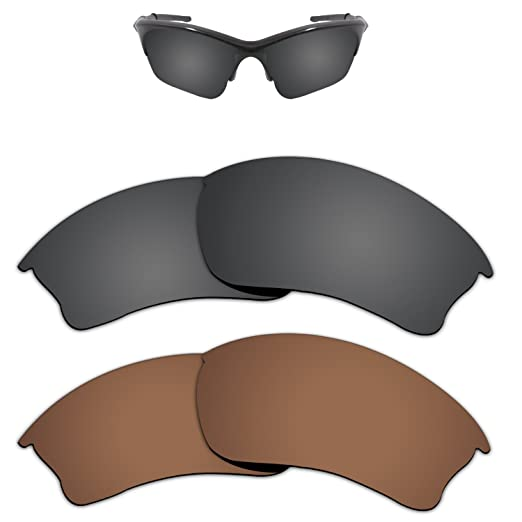 60c8da286cea Amazon.com  Kygear Replacement Lenses Different Colors for Oakley Half  Jacket XLJ Sunglass Polarized Pack of 2  Clothing