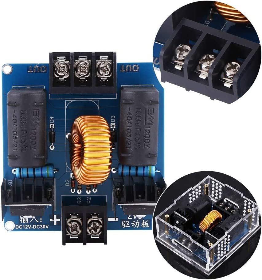 DC12-30V ZVS Coil Generator Parts High Voltage Power Supply Drive Board Unassembled Set Power Supply Drive Board