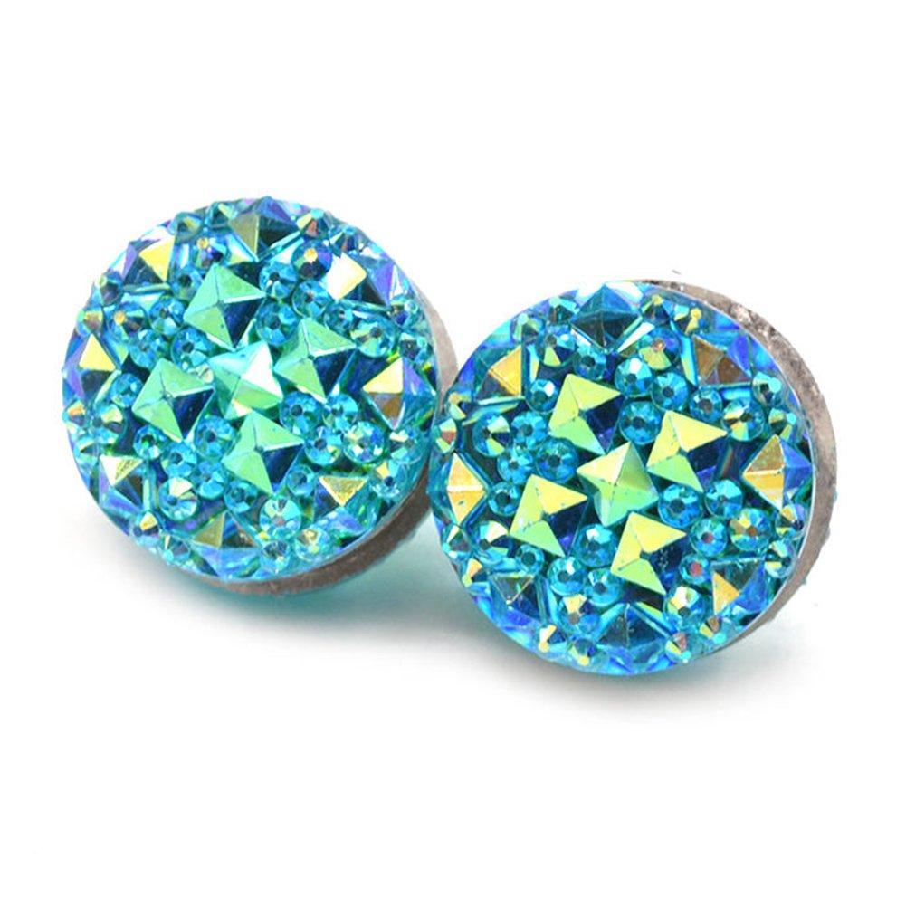 1 Paar runde Strasssteine magnetisch Damen-Brosche Schal Abaya Muslim Pin Anstecknadel Brosche f/ür M/änner und Frauen blau