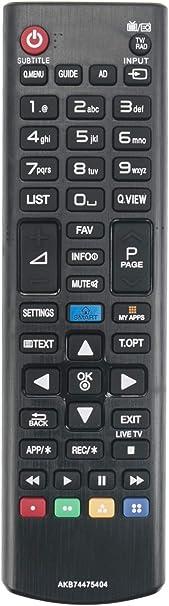 ALLIMITY AKB74475404 Control Remoto reemplazado por LG LED LCD TV 28LF491U 32LF5800 42LF5800 40UF695V 55UF695V 60UF695V 42LF580V 32LF580V 50LF580V 55LF580V 49UF695V 50LF5800: Amazon.es: Electrónica