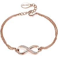 Mestige Rose Gold Infinitely Yours Bracelet with Swarovski® Crystals, Gift Love