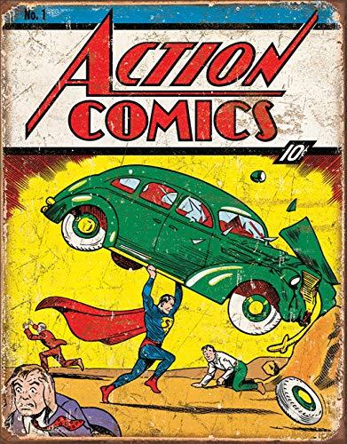 Desperate Enterprises Action Comics No 1 Cover Tin Sign, 12.5