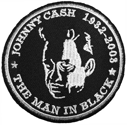 [JOHNNY CASH 8 cmMusic Band Punk Rock Heavy Metal Logo Jacket Vest shirt hat blanket backpack T shirt Patches Embroidered Appliques Symbol Badge Cloth Sign Costume] (80s Rock Costumes)