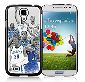 Popular And Unique Custom Designed Cover Case For Samsung Galaxy S4 I9500 i337 M919 i545 r970 l720 With Oklahoma City Thunder Kevin Durant 6 Black Phone Case