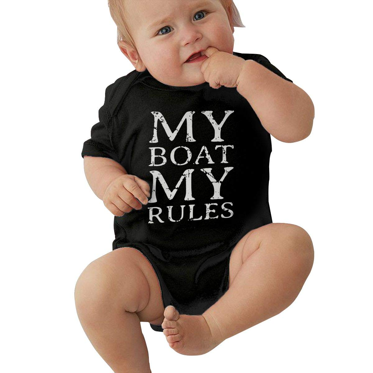 Baby Girl Short Sleeve Jumper Bodysuit My Boat My Rules Baby Rompers