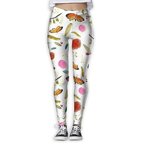 351e740848e73 LINSHANGYI Butterfly Life Tummy Control Yoga Pants Leggingsskinny Leggings  Athletic Jogger