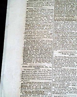 Rare PRO CONFEDERATE Louisville KY Kentucky 1861 Civil War Beginning Newspaper LOUISVILLE DAILY COURIER, Kentucky, May 15, 1861