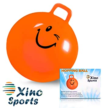 XinoSports Hopping Ball for Kids - Teenagers and Adults, Offers Hours of  Incredible Fun for Boys and Girls, Amazing Space Hopper Ball, Safe and