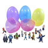 12 Zootopia PVC Toy Topper Characters Filled 6 Inch Jumbo Easter Egg