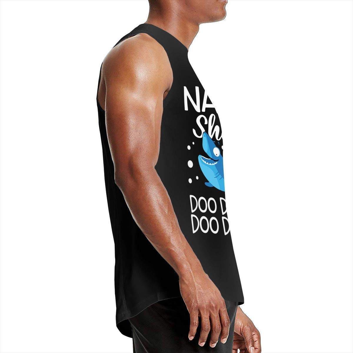 Nana Shark Doo Doo Mens Cool Breathable Jersey Vest T-Shirts
